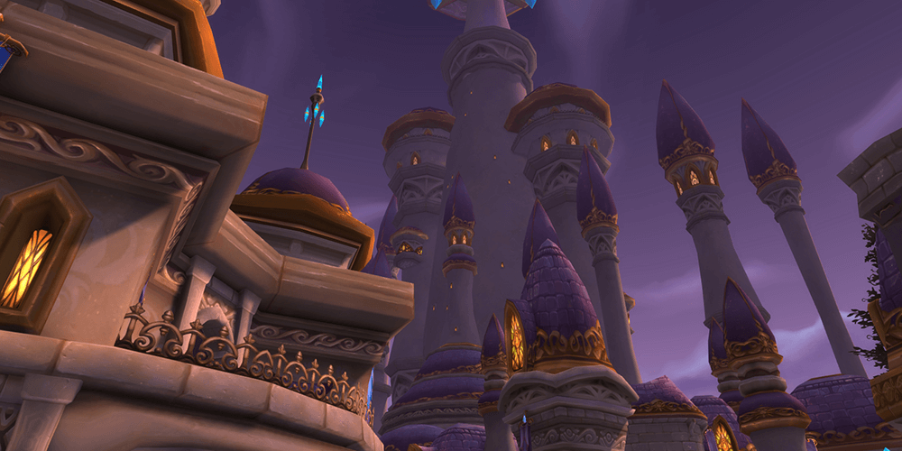 world of warcraft dalaran skyline screenshot