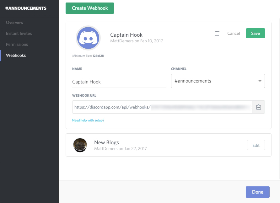 Tutorial: Automate Discord to post your new content — MattDemers com