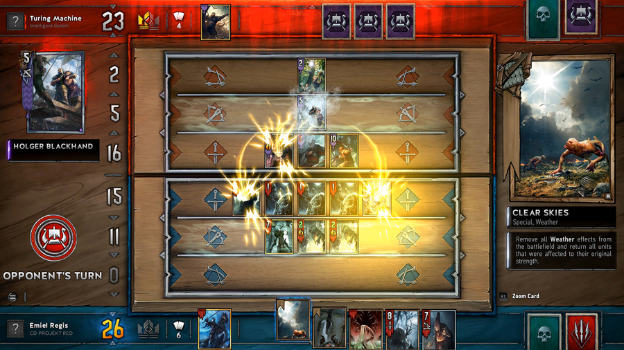 Gwent's battle screen