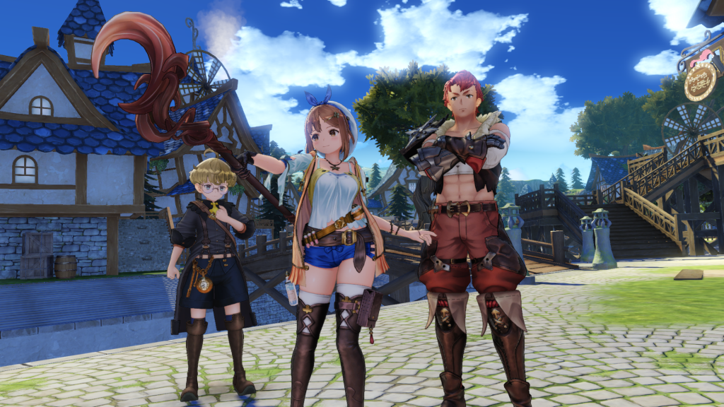 Atelier Ryza group photo of the starting party