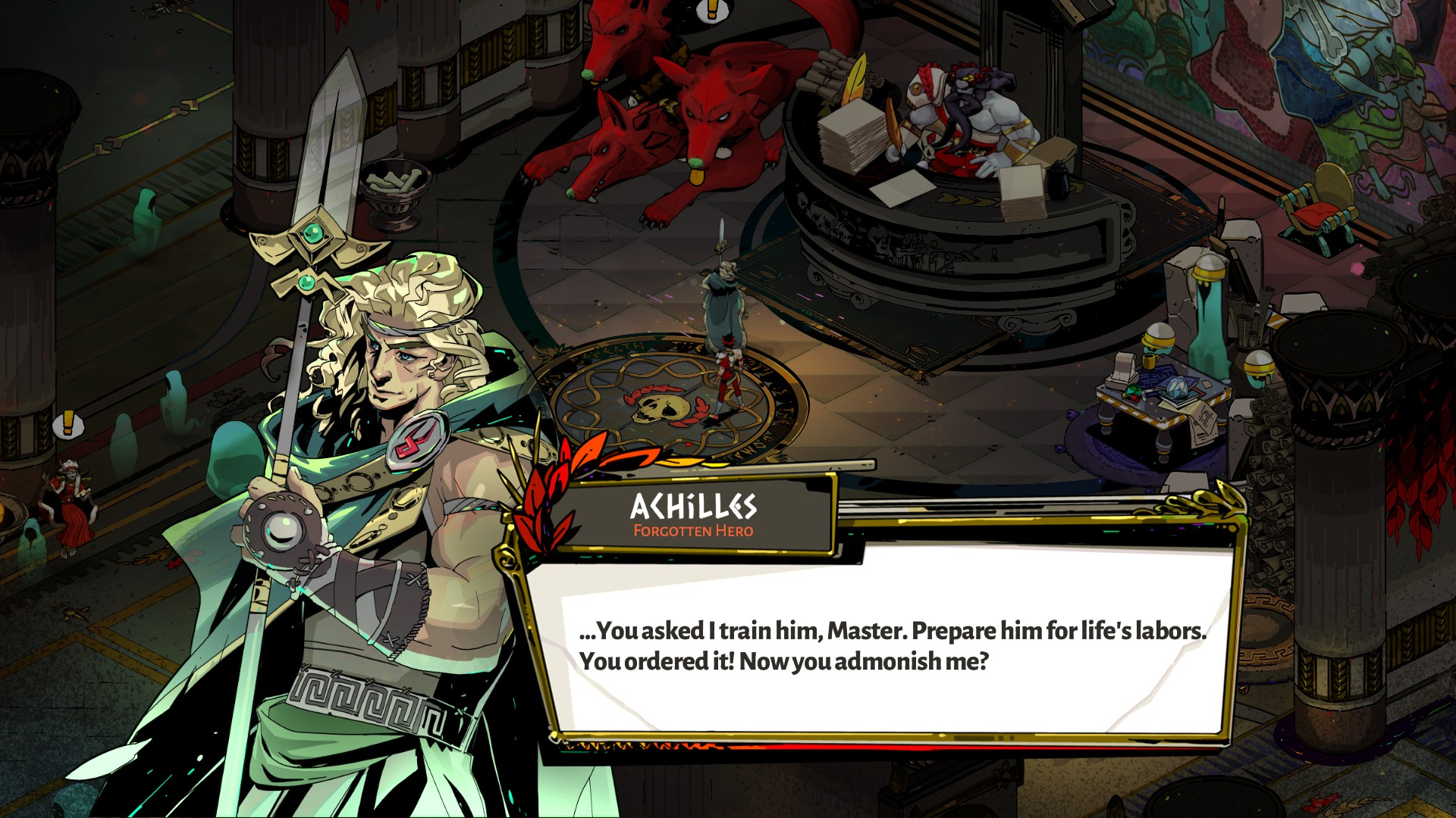 Achilles from Hades, talking to Hades.