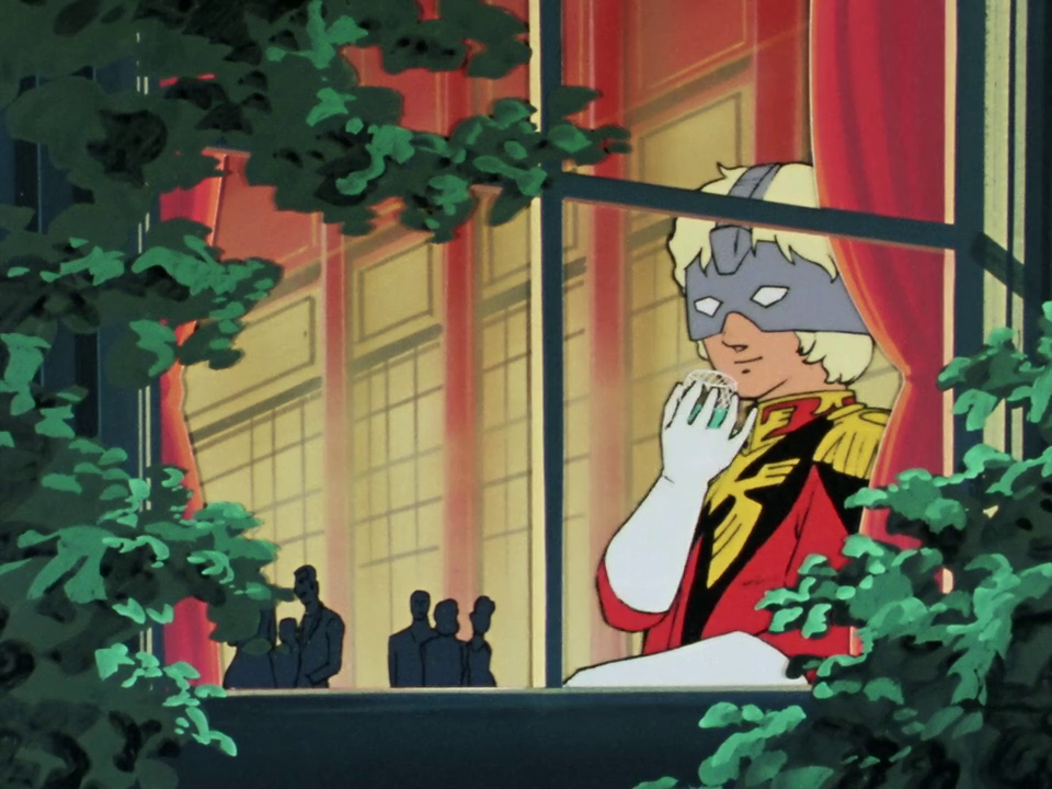 Capture from Mobile Suit Gundam 0079. Char Aznable.