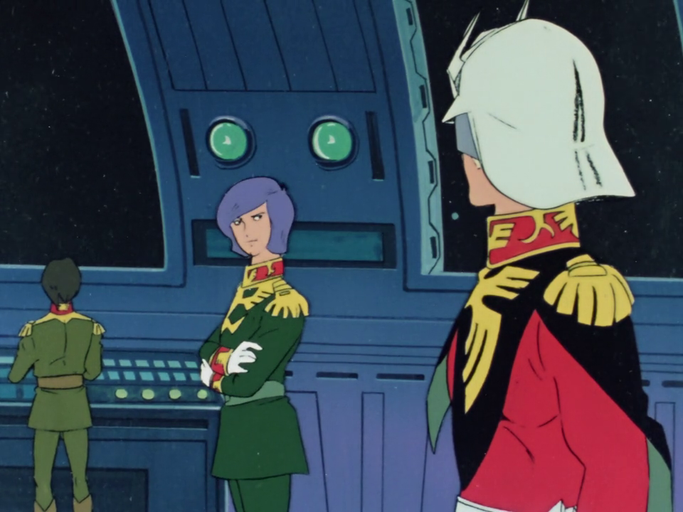 Capture from Mobile Suit Gundam 0079. Garma Zabi and Char Aznable.