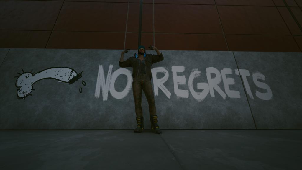 A screenshot from Cyberpunk 2077, an RPG by CD Projekt RED.